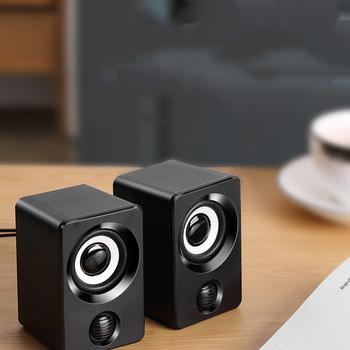 Głośniki kombinowane USB przewodowe głośniki komputerowe Bass stereofoniczny odtwarzacz muzyczny głośnik niskotonowy na PC smartfony tanie i dobre opinie HAOBA Koncentryczne Wejściowego Z tworzywa sztucznego Pełny Zakres 3 (2 1) Brak NONE Inne 300 w 60 hz-23 khz