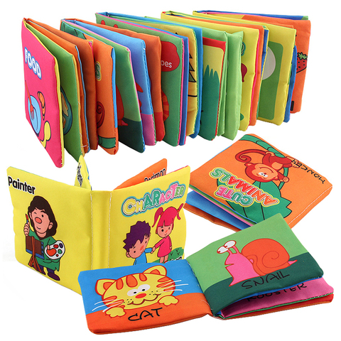 Baby Educational Cloth Books Toy Newborn Training Toys Cute Infant Intelligence Development Soft Books Quiet Cloth  Book For Bab Pakistan