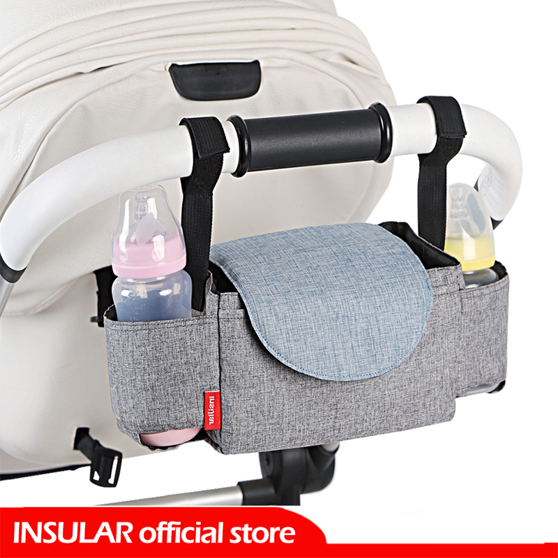 INSULAR Baby Stroller Organizer Bottle Cup Holder Diaper Bags Maternity Nappy Bag Accessories For Portable Baby Carriage