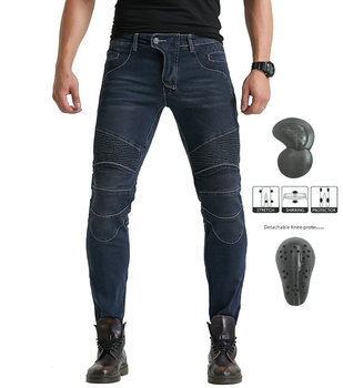 Men Motorcycle Riding Pants Motocross Racing Jeans Protective Pants With 4 X Upgraded CE Armor Detachable Knee Hip Pads four seasons riding tribe motorcycle pants with knee hip pad moto motocross trousers body armor m l xl 2xl 3xl 4xl