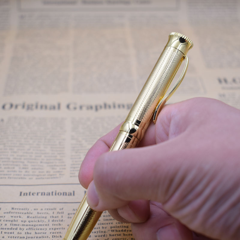 Luxury Ballpoint Pen 1mm Black Ink Balpen Teacher Supplies Writing Materials Stationery Joy Corner in Ballpoint Pens from Office School Supplies