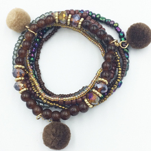 Han Jing New Arrival Trendy fashion new  charm gold couple friendship women 2019 Pom Bead jewelry bracelets for femme