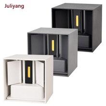 IP65 светодиодный водонепроницаемый настенный светильник 12 Вт для помещений и улицы, регулируемый настенный светильник для двора, крыльца, коридора, спальни, настенный светильник