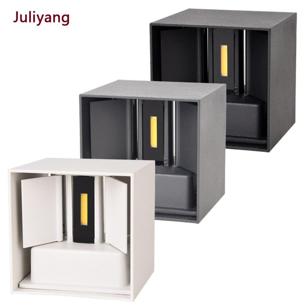 IP65 LED wodoodporna ściana lampy 12W wewnątrz i na zewnątrz regulowana lampa ścienna dziedziniec ganek korytarz sypialnia kinkiet