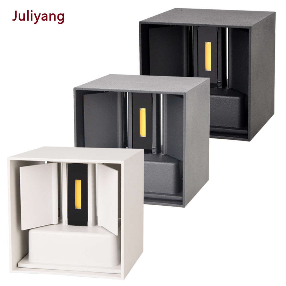 Lámparas de pared impermeables IP65 LED 12W interior y exterior lámpara de pared ajustable patio porche pasillo dormitorio pared
