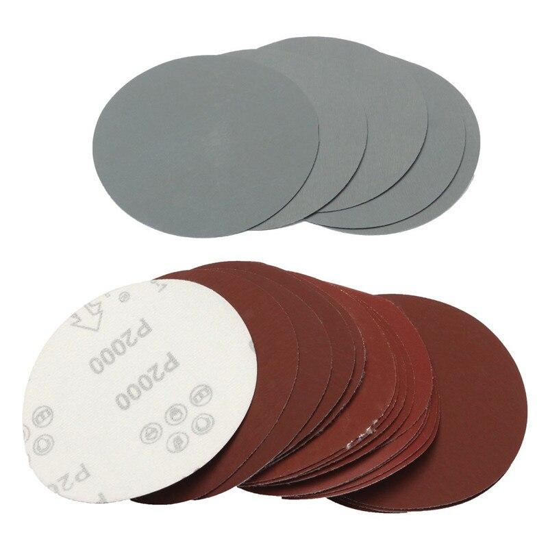"100 pcs 5/"" 100mm Round SandPaper Hook /& Loop Sanding Sheets Discs 40-1500 Grit"