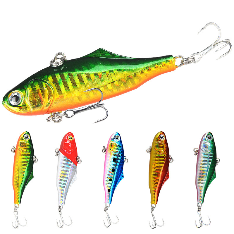 Whole 5 Color Sinking Vib Fishing Lok Ken Minnow Artificial Bait Vibration Winter Ice Full Swimming Layer Hard Bait Bass 7.3 Cm|Fishing Lures| |  - title=