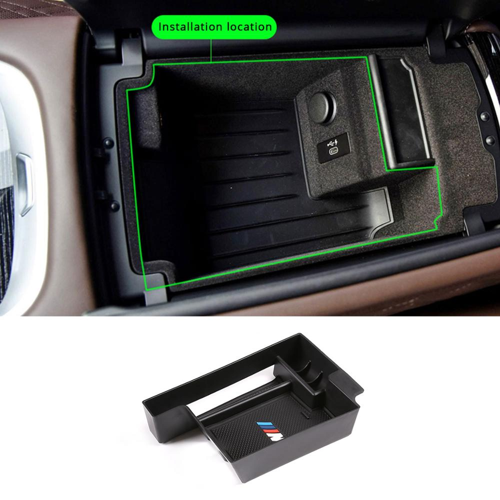For BMW 7 Series G11 G12 730Li 740Li 2016-19 Storage Box Central Container Holder Styling Insert Tray Clapboard Car Accessories