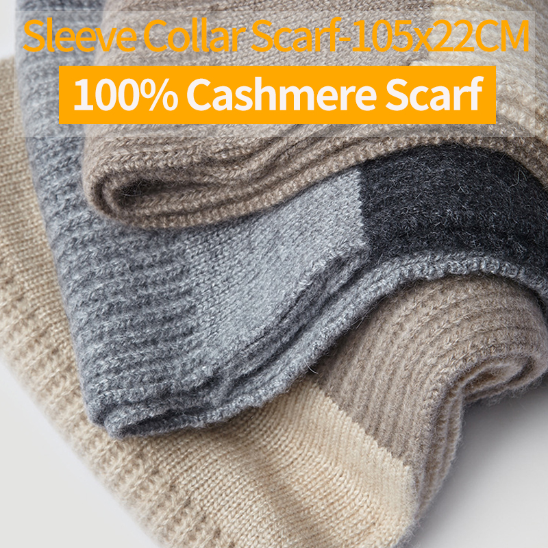 100% Natural Cashmere Scarf for Women Men Kids Winter Warm Cashmere Collar Sleeve Scarf 2020 New Knitted Cashmere Scarf and Wrap