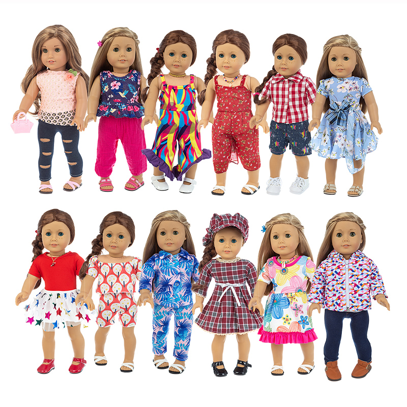 2020 New Suit collection Fit for American Girl Doll Clothes 18-inch Doll , Christmas Girl Gift(only sell clothes)