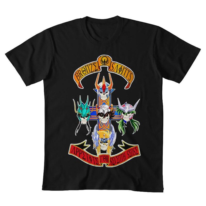 Image 5 - SAINT SEIYA GNR T shirt saint seiya saint seiya appetite for destruction appetite destruction roses guns guns n roses sevenT-Shirts   -