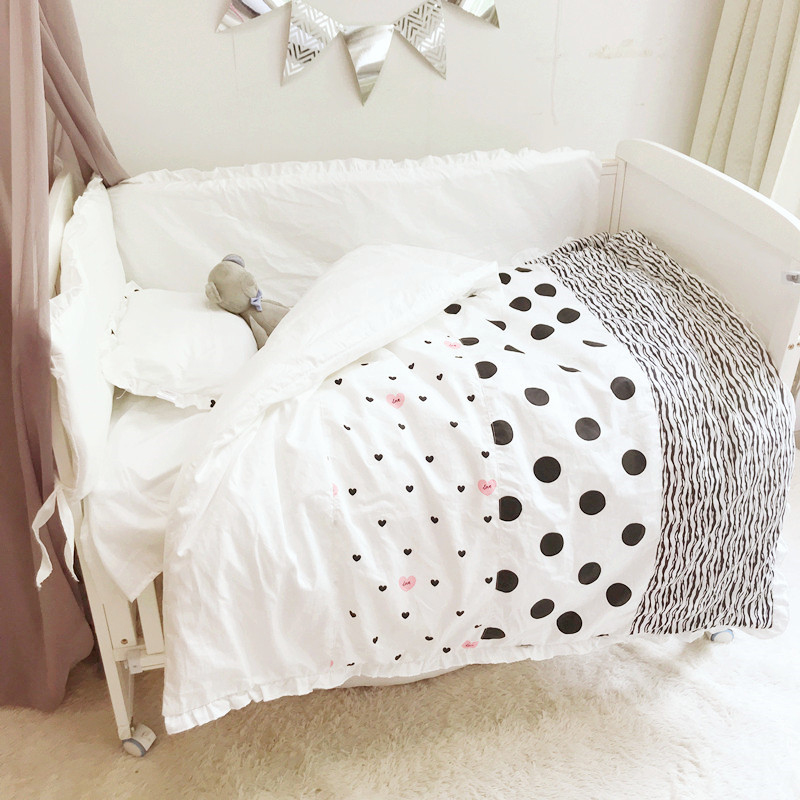 Baby Crib Toddler Bedding Newborn Baby Quilt  Baby Crib Set Bed Sheet Pillows Quilt Cushion Bumpers For Infant Room YCZ039