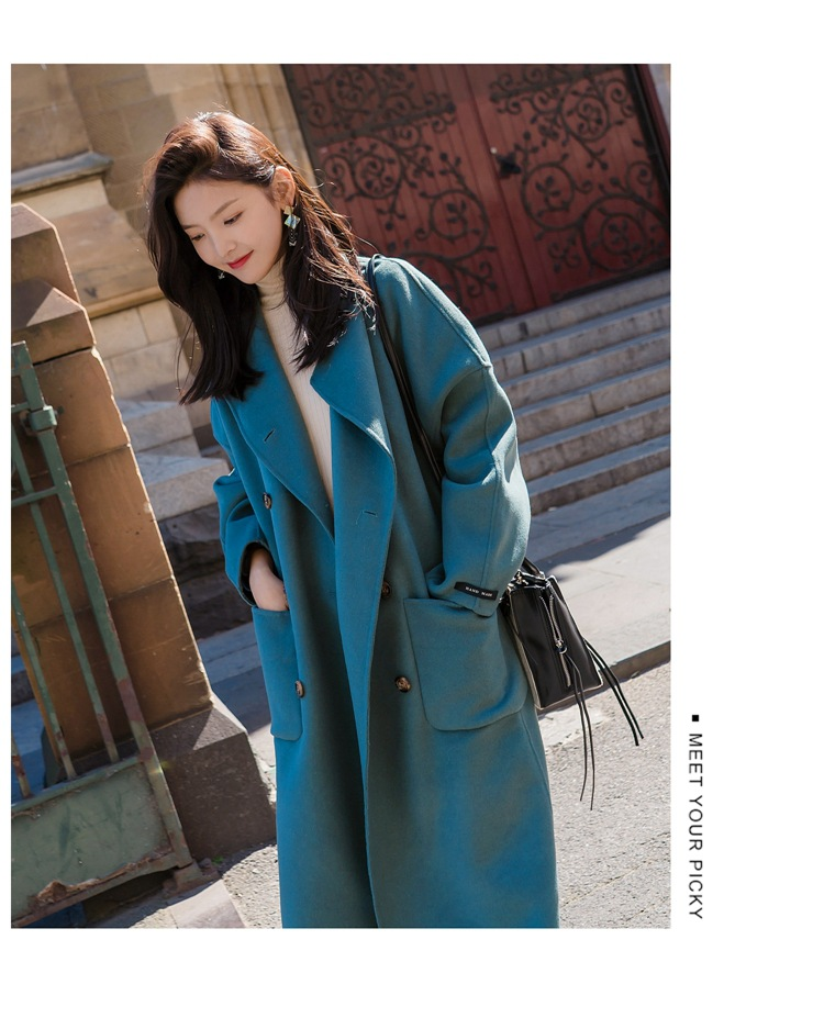 Large Size 2019 Fashion Women Winter Jacket Wool Coat Female Long Paragraph Long Sleeve Coat Thick Woolen Blends Outwear 8