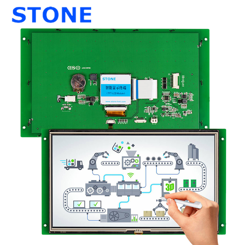 10.1 Inch HMI LCD Display Module With Touch Screen & RS232 RS485 TTL UART Port STVI101WT-01