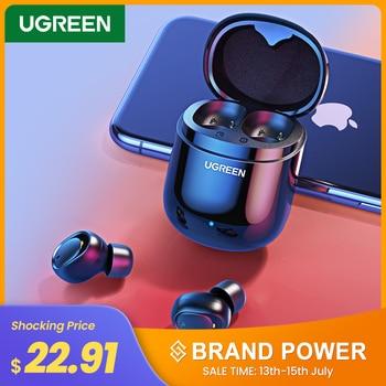 цена на UGREEN TWS Headphones True Wireless Stereo Earbuds Bluetooth Earphones Buds Headset for Sport TWS Bluetooth Earphone