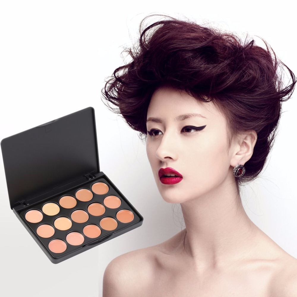 HOT 15 Color Professional Natural Face Concealer Cream Camouflage Makeup Contour Palette Facial Cosmetics Makeup Base Tool Kits image