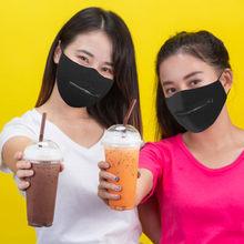 Mondkapjes herbruikbaar máscara protetora lavável reutilizável para homem mulher zíper gelo máscara de seda fácil de beber
