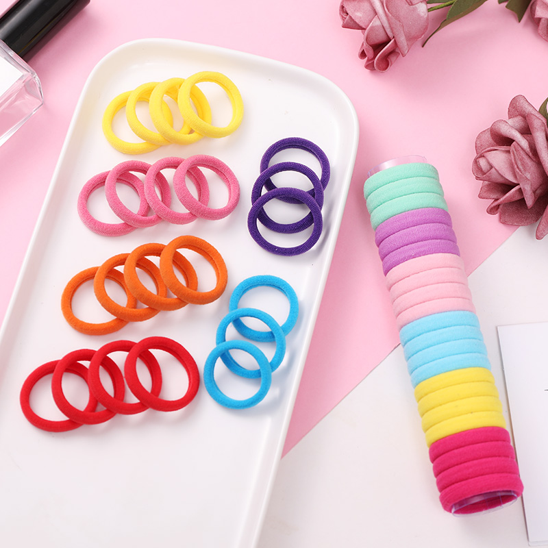 22pcs/Lot Girls Cute Colorful Nylon Elastic Hair Bands Ponytail Holder Scrunchie Rubber Bands Tie Gum Fashion Hair Accessories