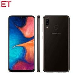 Перейти на Алиэкспресс и купить global samsung galaxy a20 a205f-ds mobile phone 6.4дюйм. 3gb ram 32gb rom exynos 7884 octa core 13mp dual sim 4000mah android phone