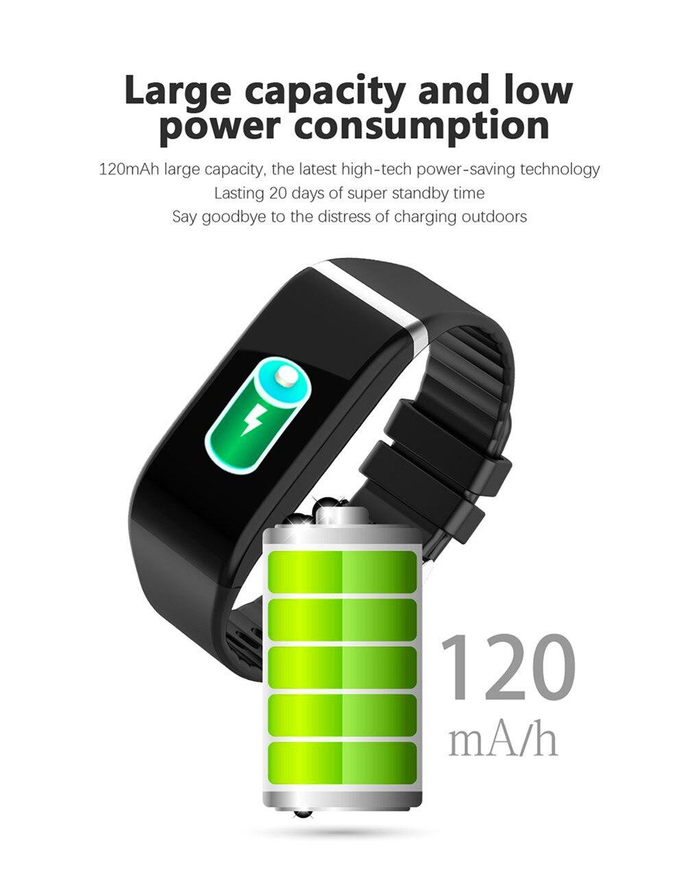 H06d1b731ba7040f499e7641f9356f9ef0 Smart Band Blood Pressure 1.14'' Screen Fitness Tracker Watch Heart Rate Fitness Bracelet Waterproof Music Control For Men Women