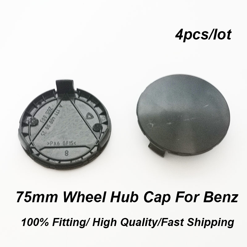 4pcs/set abs 75MM 3 pins <font><b>Wheel</b></font> Center Cap Covers <font><b>Wheel</b></font> Rim Hub CaBlack base For W211 W203 W204 <font><b>W124</b></font> W201 W202 W212 W220 image