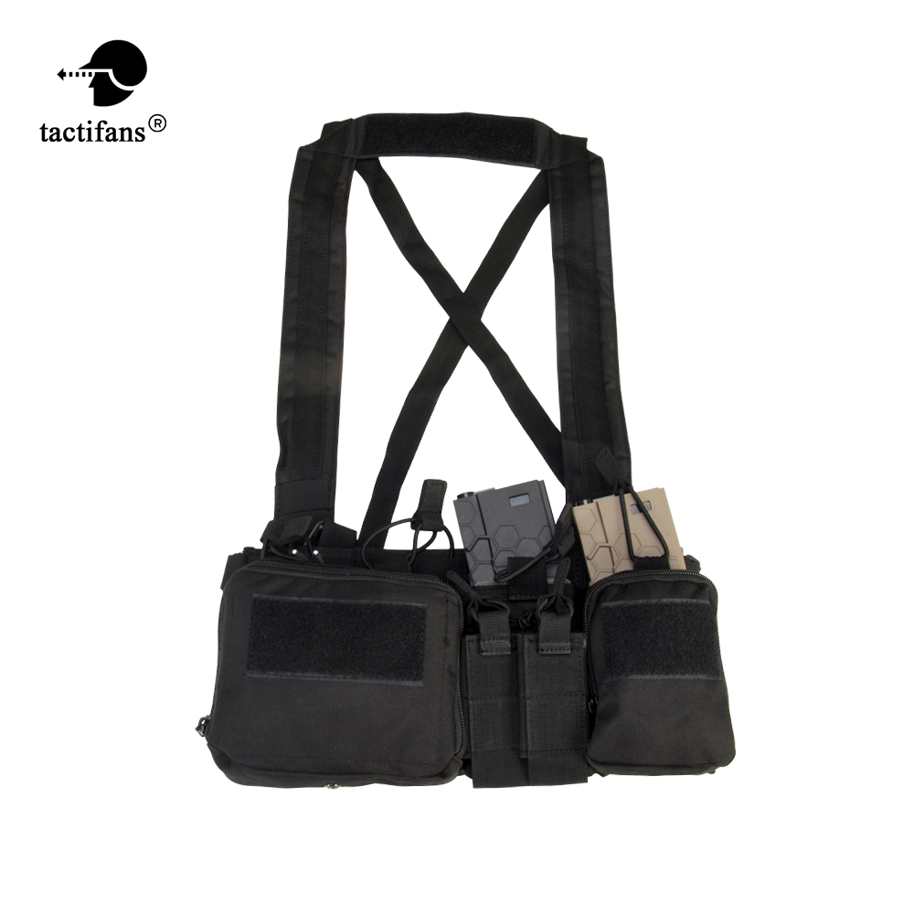 TMC Airsoft Tactical Vest Military Chest Rig Pack Pouch Holster Molle System Waist Bag CS Match Wargame