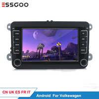 Essgoo Android 7 ''Autoradio Per Volkswagen Per Il VW Car Multimedia Player GPS Supporto di Navigazione Autoradio 1din Stereo Video MP5