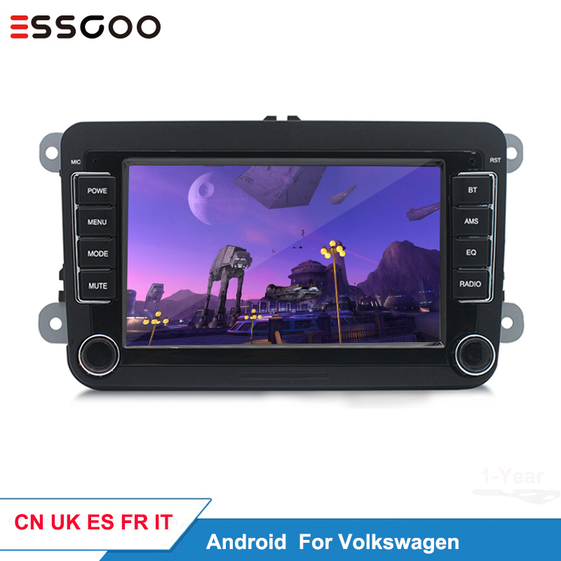 Essgoo Android 7'' Car Radio For Volkswagen For VW Car Multimedia Player Support GPS Navigation Autoradio 1din Stereo Video MP5 image