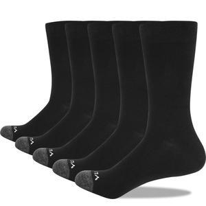 Image 5 - YUEDGE Mens Socks Breathable Combed Cotton Crew Casual Dress Socks Summer Socks 5 Pairs 37 46 EU