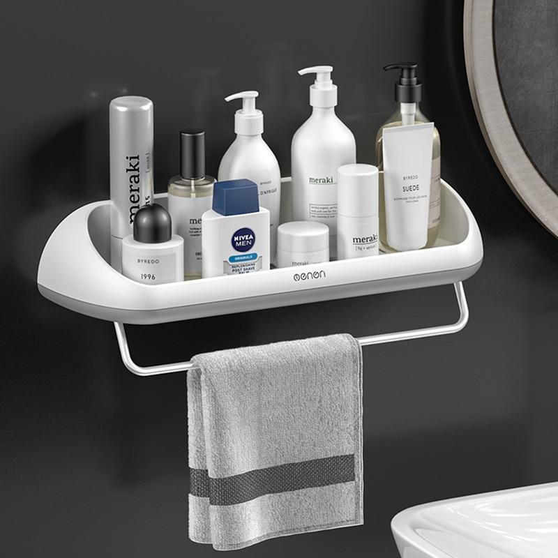 Multifunctional Storage In The Bathroom, Bathroom Wall Towel Storage