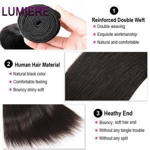 Image 3 - Прямые пряди Lumiere, перуанские волосы, волнистпряди, 100% человеческие волосы, пучки натурального цвета, двойной уток, волнистые волосы Remy