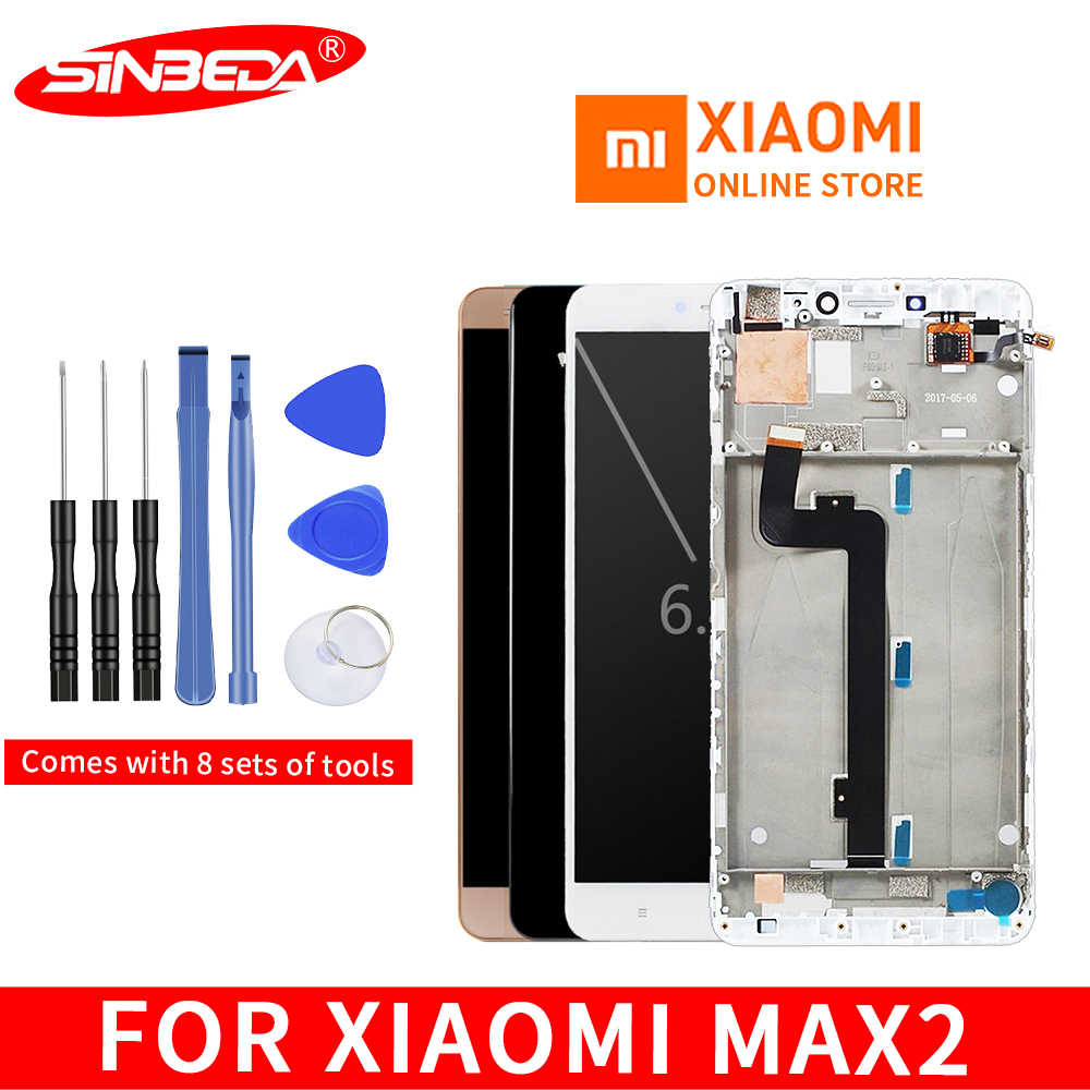 "6.44""Original Display For XIAOMI Mi Max 2 LCD Touch Screen with Frame Replacement Screen for Xiaomi Mi Max 2 Display Max2 LCD"