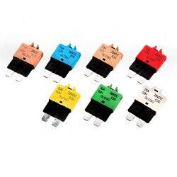 Универсальные автоматические выключатели, предохранитель с лезвием, 28 В постоянного тока, 5-30 а, с ручным сбросом, 5A7.5A10A15A20A25A30A, F445