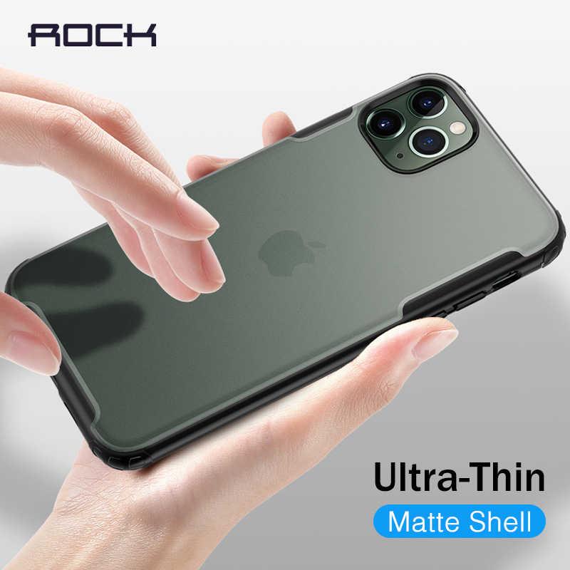 ROCK กรณีโทรศัพท์กันกระแทกสำหรับ iPhone 11 PRO MAX กรณีสำหรับ iPhone XR XS X 7 8 PLUS กรณีโปร่งใส Funda Matte Coque
