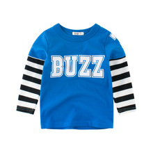 Boys T Shirt Tops Long Sleeve Toddler Baby Girls e Cotton Fashion Autumn Spring Tee Clothing Clothes Print Letter for 2-8 Years autumn spring velvet striped soccer letter print baby boys sweat shirt tee kids tshirt children fashion tops boys sweatshirt