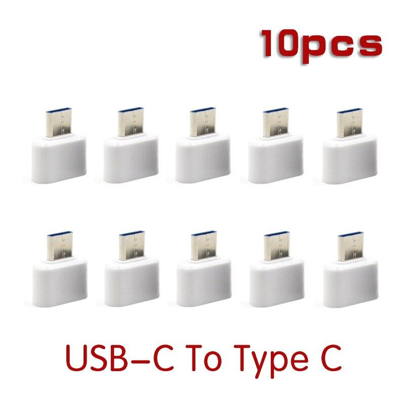 10 штук в наборе USB 3,0 Type-C и разъемом типа «мама» Тип C USB-C OTG конвертер для Xiaomi Mi5 Mi6 Huawei Samsung коврик для мыши и клавиатуры USB диск