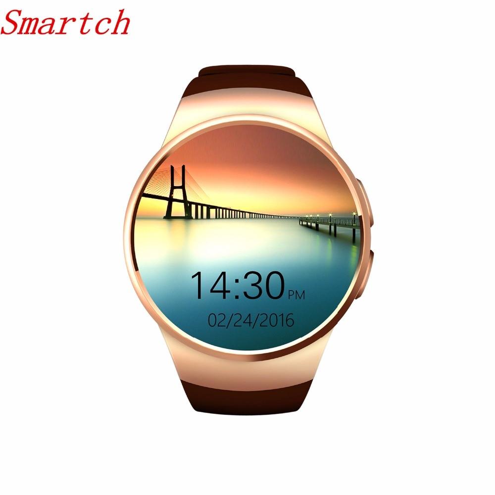 Smartch KW18 montre intelligente SIM TF MTK2502 moniteur de fréquence cardiaque Smartwatch écran tactile bluetooth montre-bracelet pour apple android IOS