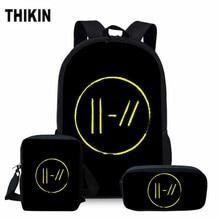 ThiKin Twenty One Pilots School Bag Set for Girls Boys Hip H