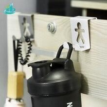 Colgador de gancho para puerta cuadrado de Metal de acero inoxidable, 2 uds., soporte con forma de persona para amantes del espacio, Ahorrador de espacio, ganchos para estantes de cocina