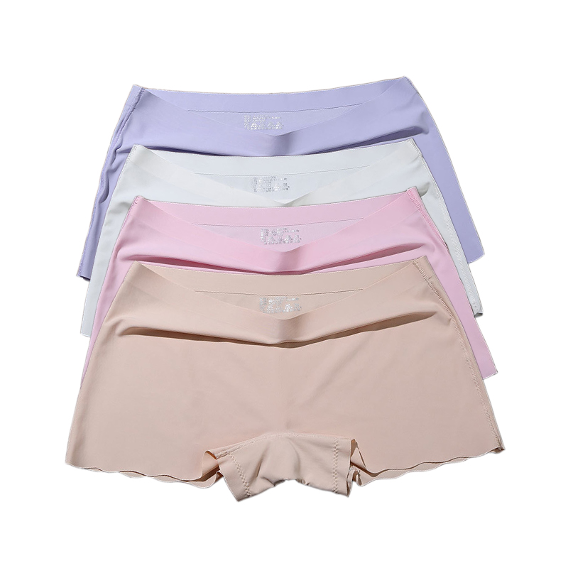 Women's Safety Short Pants Boxer Women Underwear Boyshort Panties Skirt Shorts Laides Underpants Seamless Safety Pants 4 Pcs/lot