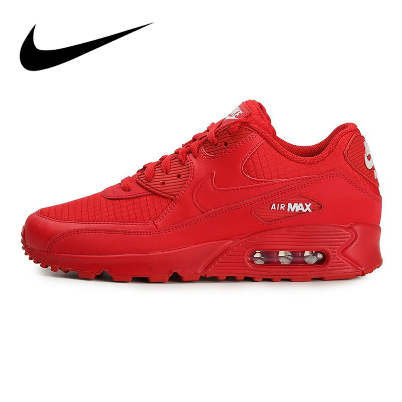 Original Authentic NIKE AIR MAX 90 ESSENTIAL Men's Running Shoes Sport Outdoor Sneakers Athletic Designer Footwear AJ1285-602