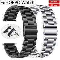Uhr Band Strap für Oppo uhr 41/46mm Edelstahl band oppo Ersatz smart watch armband armband Klassische Schnell release