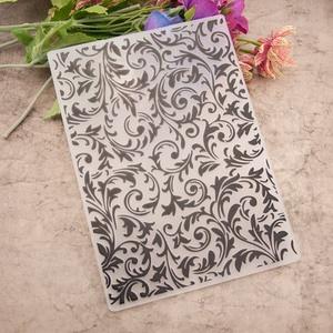 Vine Leaf Pattern Plastic Embossing Folder For Scrapbook DIY Album Card Tool Plastic Template Stamping