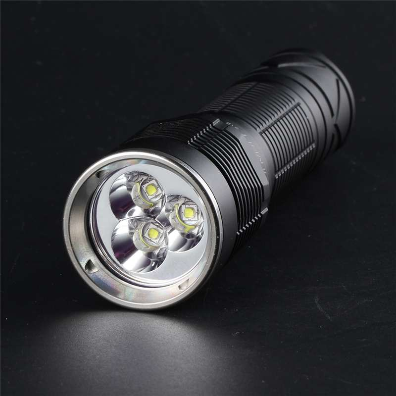 Convoy S12 3x SST20 / Nichia 219C 2300LM 6000mAh Output High Powered Flashlight 18650 21700 Flashlight For Camping LED Torch