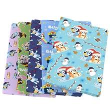 Natal pegada do cão retalhos poliéster cotton100 % tecido de algodão para tecido crianças casa têxtil costura tilda boneca, 1yc13782