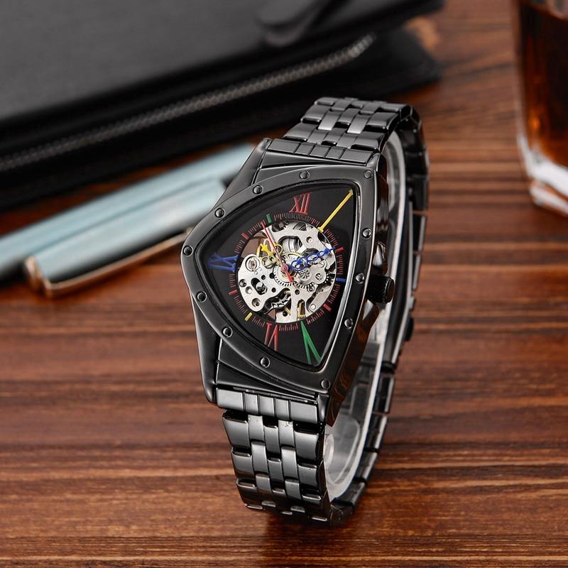 H06d40303eeb54875aafbf1e22aea4c518 Men Watch Hollow Triangular Mechanical Watches Stainless Steel Men's Wristwatches Fashion Brand Men Clock Male Dropshipping!!!