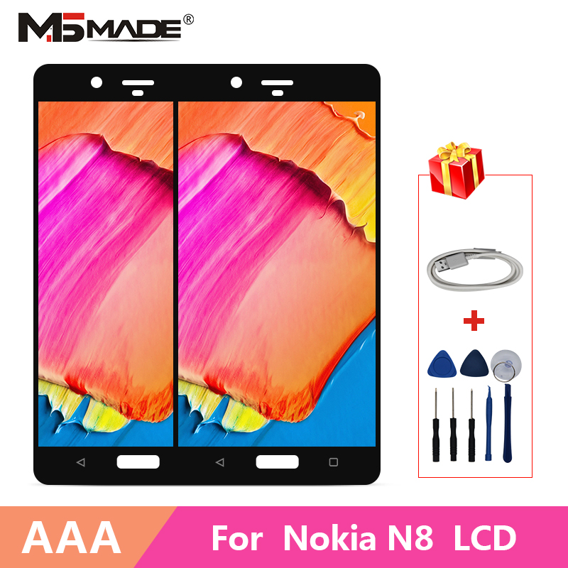 AAA Quality For <font><b>Nokia</b></font> 8 N8 <font><b>TA</b></font>-1012 <font><b>TA</b></font>-<font><b>1004</b></font> <font><b>TA</b></font>-1052 LCD Display Touch Screen Digitizer Assembly Parts For <font><b>Nokia</b></font> N8 Display image