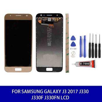 Original Quality For Samsung Galaxy J3 2017 J330 J330f J330fn Adjustable Brightness Lcd Display Touch Replacement Parts Tools недорого