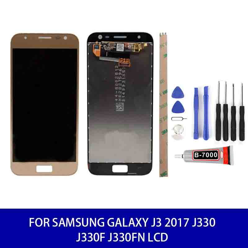 Original Quality For <font><b>Samsung</b></font> Galaxy J3 2017 J330 J330f <font><b>J330fn</b></font> Adjustable Brightness Lcd Display Touch Replacement Parts Tools image