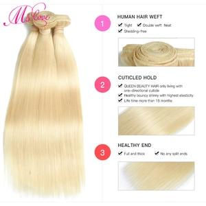Image 4 - Blond 613 wiązki proste włosy ludzkie brazylijskie włosy wyplata wiązki 1 2 3 4 wiązki Remy włosy Mslove mogą być barwione dowolny kolor